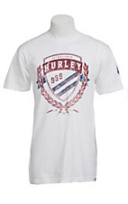 Hurley White Flying High Logo Classic Fit Short Sleeve Tee