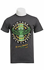 Cinch® Mens Grey Vintage Cinch Classic Circle Logo Short Sleeve Tee