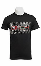 Cinch® Mens Black with Silver and Red Logo Short Sleeve Tee