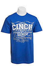 Cinch® Men's Royal Blue Logo Short Sleeve Tee