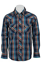 Wrangler Mens LS Snap Western Shirt MV1328MX