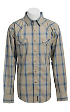 Wrangler Men's Retro Snap Plaid Western Shirt MVR148M