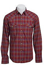 Wrangler Men's Retro Snap Plaid Western Shirt MVR149M