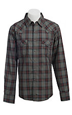 Wrangler Men's Retro Snap Plaid Western Shirt MVR150M