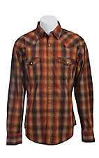 Wrangler Men's Retro Snap Plaid Western Shirt MVR158M