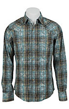 Wrangler Men's Retro Snap Plaid Western Shirt MVR167M