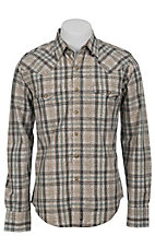 Wrangler Men's Retro Snap Plaid Western Shirt MVR169M
