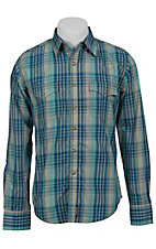 Wrangler Men's Retro Snap Plaid Western Shirt MVR172M