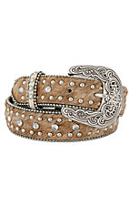 Nocona® Children's Rhinestone and Light Hair on Calf Belt