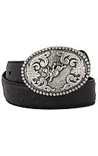 Nocona® Children's Black Ostrich Print Belt