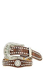 Nocona® Children's Rhinestone and Crocodile Print Belt N4426002