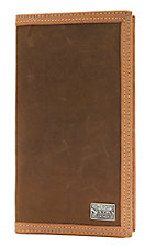 Nocona� Bay Brown & Natuaral Leather Mens Rodeo Wallet/Checkbook Cover