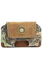 Nocona® Mossy Oak Camo and Brown Leather Shotgun Shell Cell Phone Case