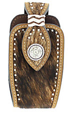 Nocona® Brown Brindle Hair with Silver Round Concho Cell Phone Case