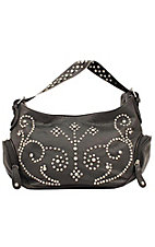 M&F® Nocona™ Ladies Black with Studs and Rhinestones Zip Top Handbag