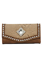 Nocona® Brown and Tan w/ Rhinestones Wallet
