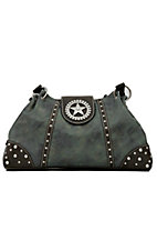Nocona® Blue Faux Leather w/ Star Concho & Rhinestones Handbag