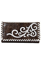Nocona® Brown Faux Leather w/ Scroll Design Wallet