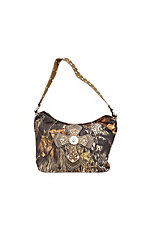 Nocona® Mossy Oak Camo w/ Cross & Rhinestones Hobo Bag