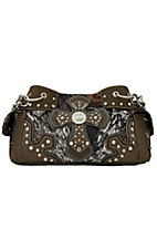 Nocona® Mossy Oak Camo w/ Cross & Rhinestones Multi Pocket Handbag