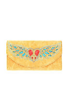 Nocona® Ladies Tan w/ Heart & Wings Design Wallet