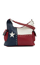 Blazin Roxx® Ladies Texas Flag w/ Studs Bucket Bag