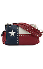 Blazin Roxx® Ladies Texas Flag & Studs Satchel