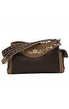 Blazin Roxx® Women's Brown & Tan with Floral Rhinestone Embroidery Satchel