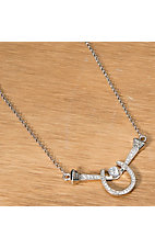 Montana Silversmiths® Crystal Horseshoe and Nails Necklace