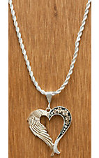 Montana Silversmiths® Silver & Gold a Love Joined From Heaven & Earth Heart Necklace