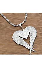 Montana Silversmiths® Silver Winged Heart Necklacle