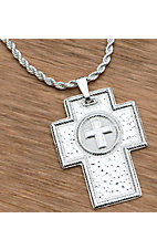 Montana Silversmiths® Silver Hammered Cross Necklace