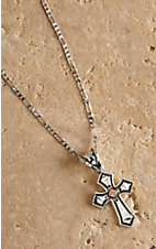 Montana Silversmiths® Antiqued Silver with Copper Cross Necklace