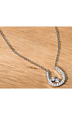 Montana Silversmiths® Treasure Finder Silver Horseshoe Necklace