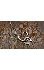Montana Silversmiths® Hooked on You Horseshoe and Heart Necklace
