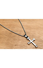 Montana Silversmiths® Men's Antique Silver Retro Cross Necklace