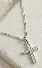 Montana Silversmiths® Silver Cross Crystal Necklace