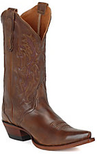 Nocona® Ladies Antique Tan Calf Western Boots