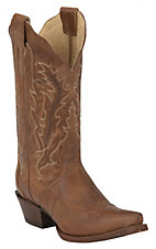 Nocona Ladies Distressed Brown Old West Tan 11