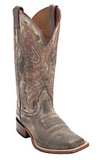 Nocona Women's Wildside Distressed Brown Double Welt Square Toe Western Boots