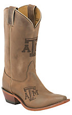 Nocona Ladies Texas A&M Distressed Brown Branded Square Toe Boots