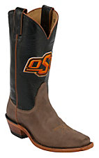 Nocona® Women's Oklahoma State University Vintage Brown w/ Logo on Black Top Single Welt Square Toe Western Boots