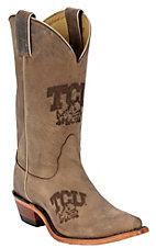 Nocona® Ladies TCU Distressed Brown Branded Square Toe Boots