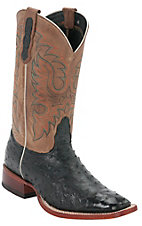 Nocona® Men's Black Full Quill Ostrich Exotic Square Toe Western Boots