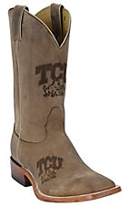 Nocona® Men's TCU Distressed Brown Branded Square Toe Boots