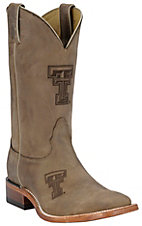 Nocona Men's Texas Tech TTU Distressed Brown Branded Square Toe Boots