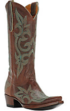 Old Gringo Ladies Diego in Rust & Blue Snip Toe Western Boots