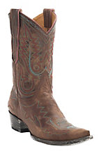 Old Gringo Women's Distressed Brown Nevada Fancy Stitch Pointed Toe Western Boots