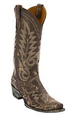 Old Gringo Women's Nevada Destroyed Chocolate Fancy Stitched Snip Toe Western Boots
