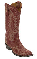 Old Gringo® Women's Nevada Destroyed Red Fancy Stitched Snip Toe Western Boots